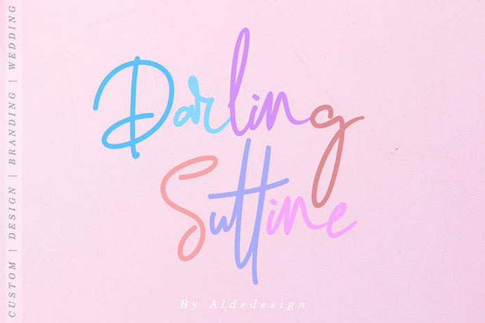 Darling Suttine | Signature Font