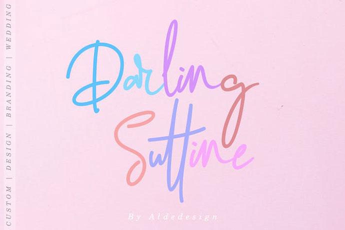 Darling Suttine | Signature Font