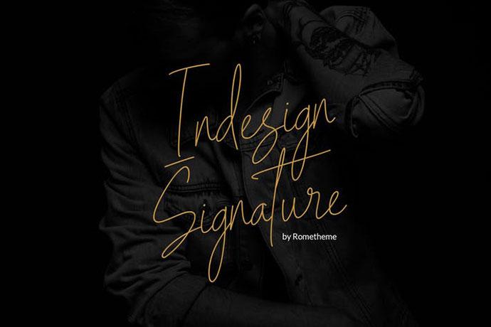 Indesign Signature Script