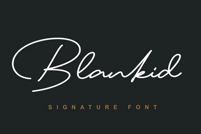 Blank id Font