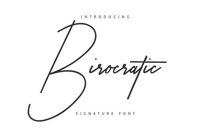 Birocratic Signature Typeface