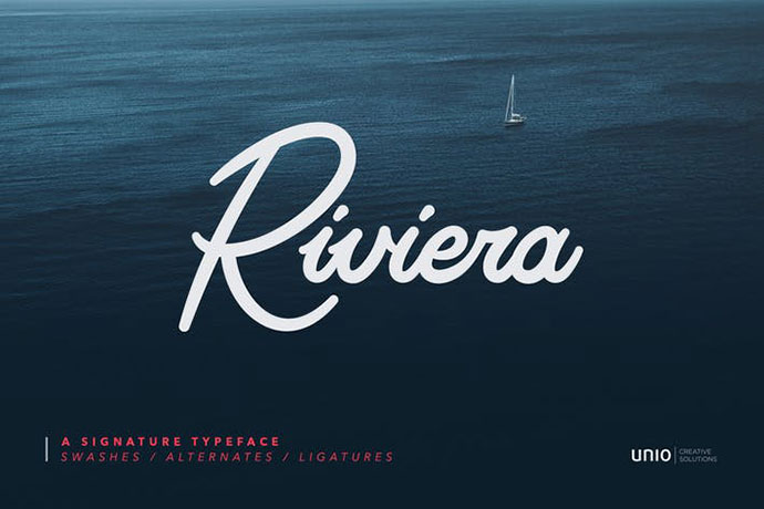 Riviera - Signature Font