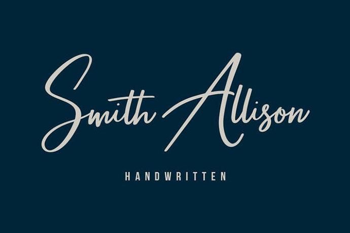 Smith Allison Signature Font