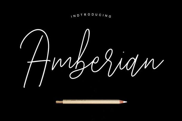 Amberian Font Signature