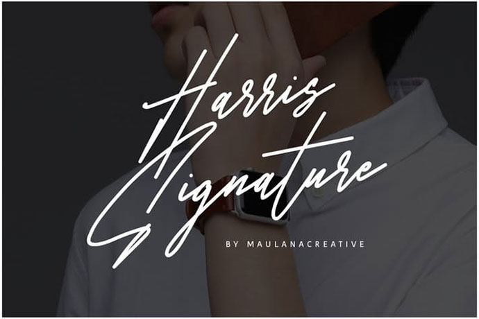 Harris Signature Typeface