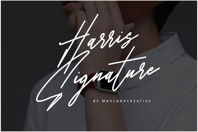 Harris Signature Typeface