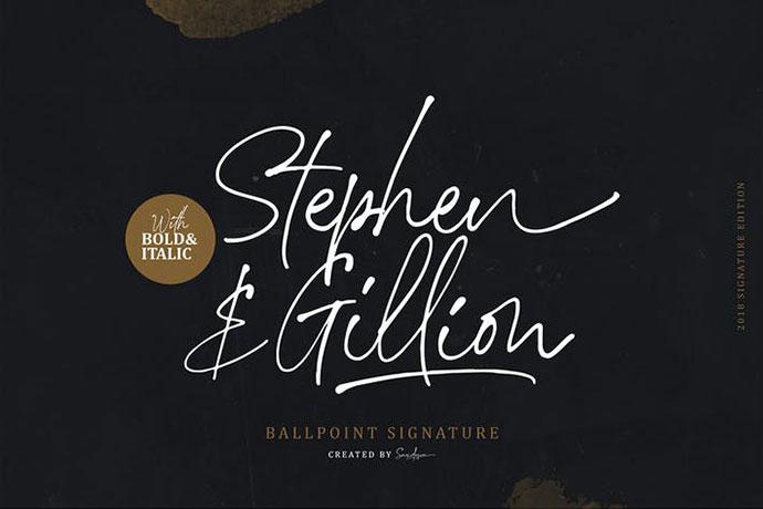 Stephen & Gillion - Signature Script