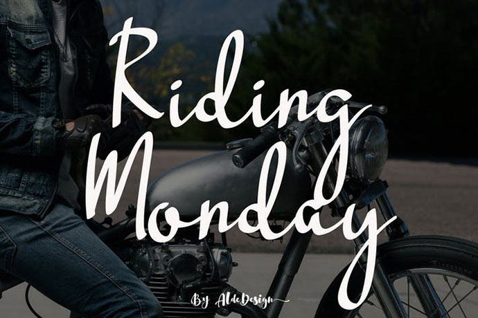 Riding Monday - Signature Font