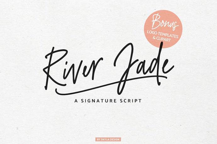 River Jade, Signature Font & Logos