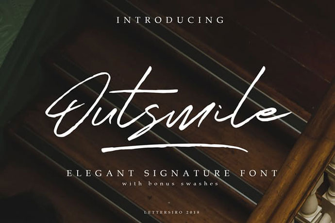 Outsmile   Signature Font
