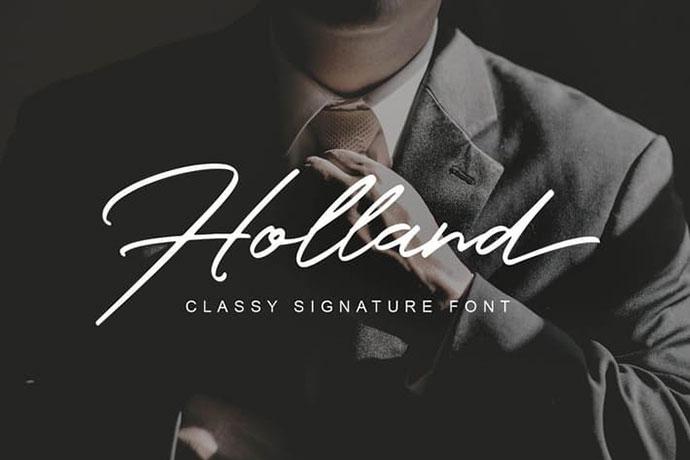 Holland Classy Font