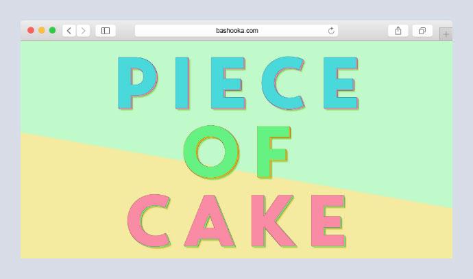 Single element, multi coloured 3d text effect