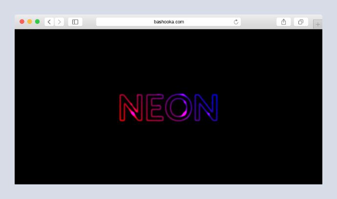 CSS-only shimmering neon text