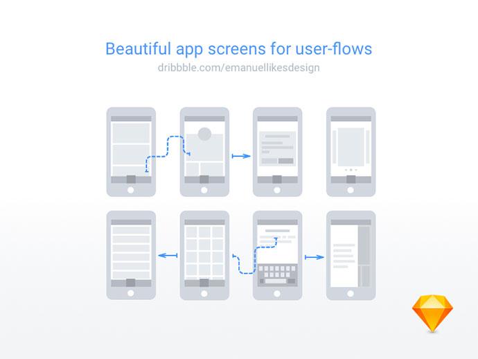 User flow assets