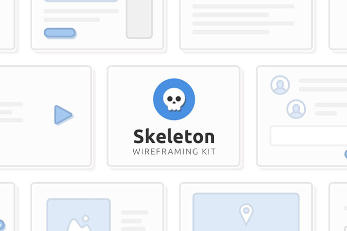 Skeleton Wireframing Kit