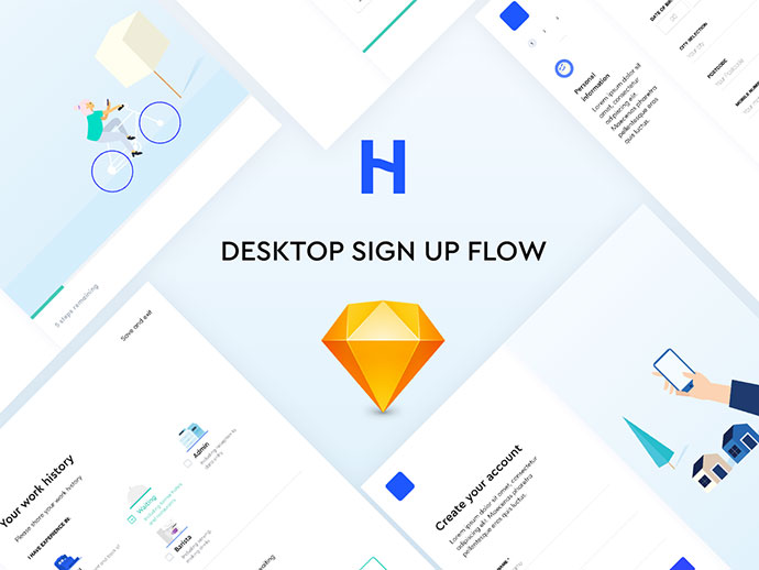 Free sign up UI kit