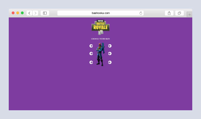Fortnite Skin Builder | Interactive Customisation Carousels