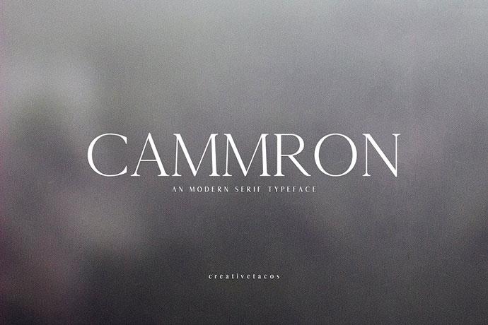 Cammron Serif Font Family