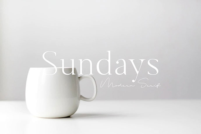 Sundays -  Modern Serif Font