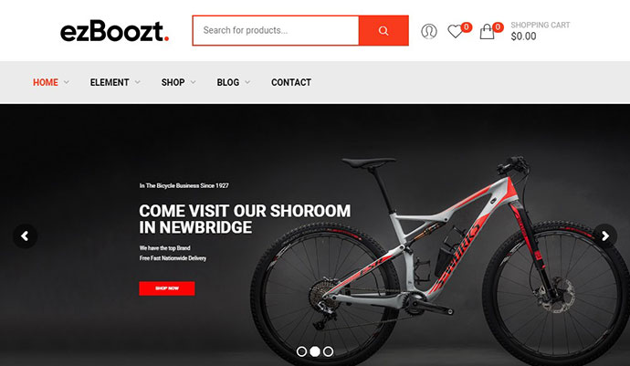 ezBoozt Bike WordPress Theme