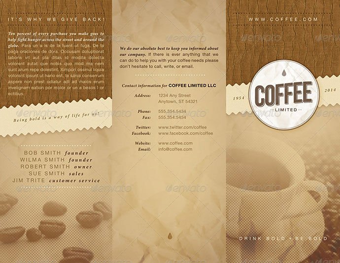 Coffee Trifold Brochure