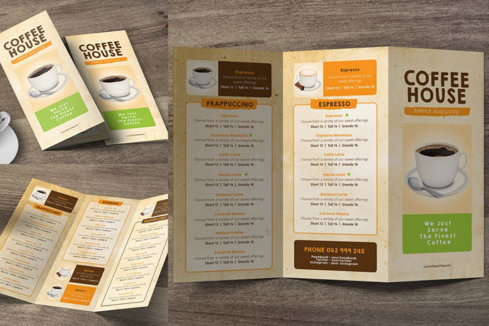 Coffee Trifold Menu