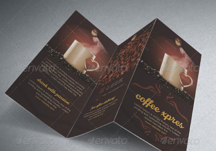 Coffee Brochure Template Tri-Fold