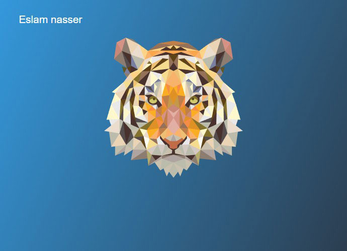 SVG Animated Low Poly Tiger