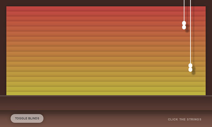 Window Blinds Animation CSS Only