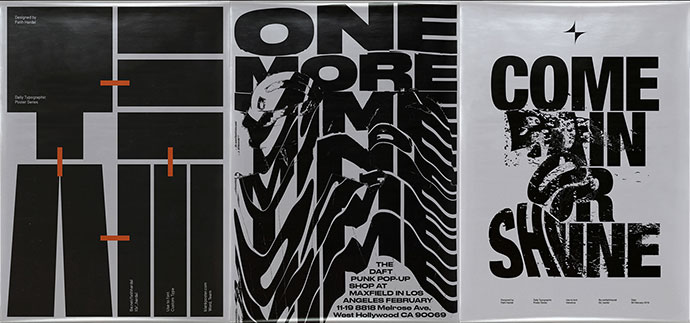 Thirty Typographic Posters