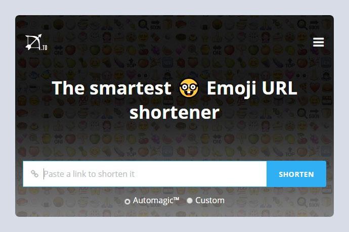 Emoji URL shortener