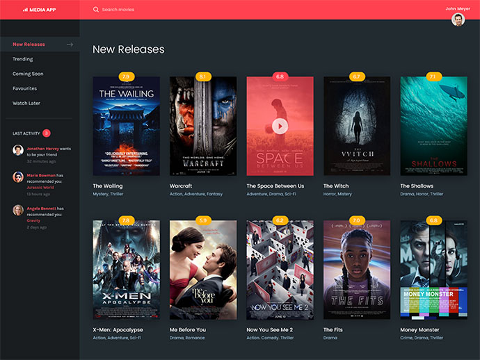 Movie Application UI