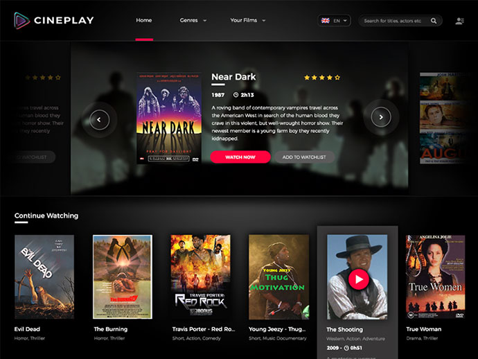 Cineplay Website