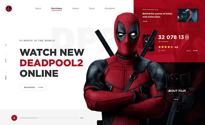 Deadpool - Website Concept