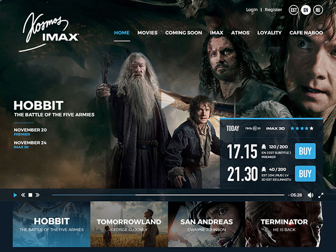 Kosmos IMAX - Cinema Web UI