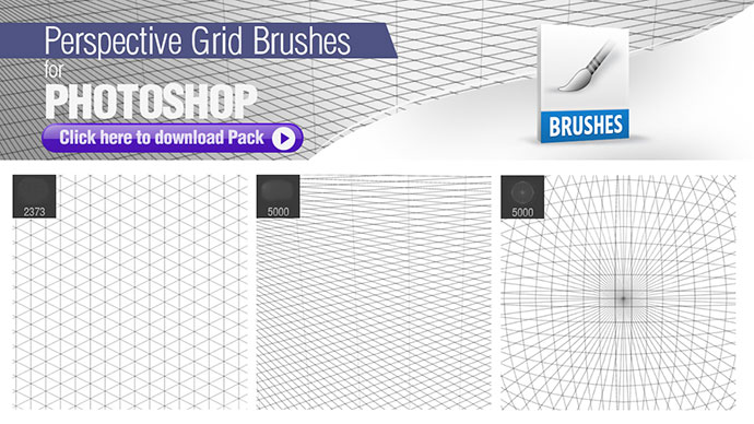 Perspective Grid Brushes for Photoshop