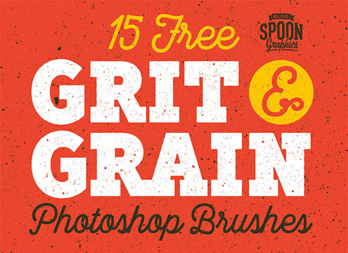 15 Free Grit & Grain Texture Brushes for Adobe Photoshop