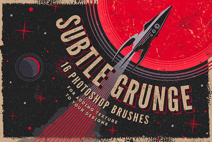 Grunge Photoshop Brushes Kit
