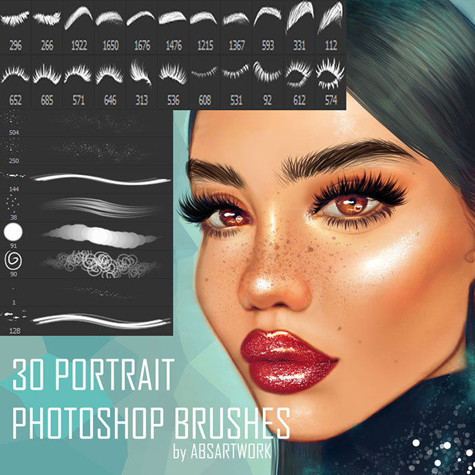 30 portrait Photoshop brushes
