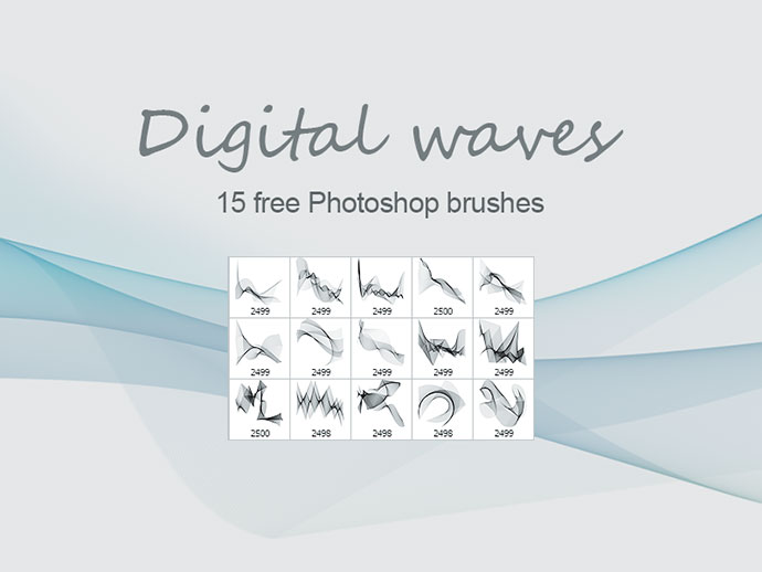 Digital Waves - Free PS brushes