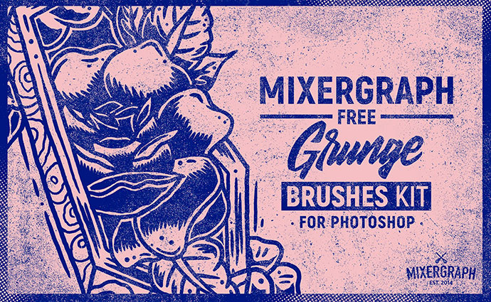 Free Grunge Brushes Kit For Photoshop