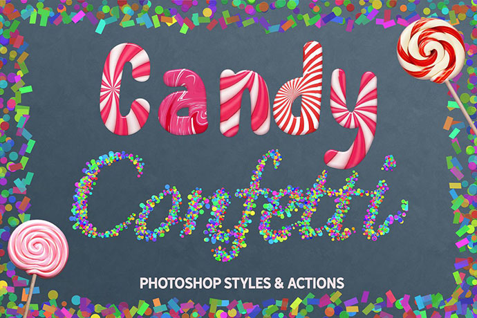 CANDY & CONFETTI Styles Photoshop