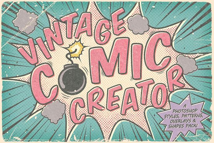 Creador de dibujos animados vintage