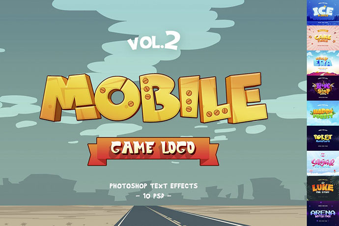 Mobile Game Text Effects vol.2