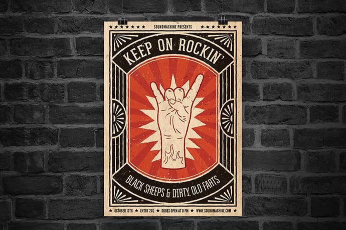 Keep On Rockin' Flyer