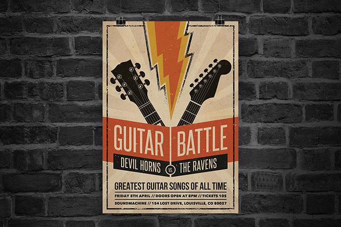 Guitar Battle Flyer