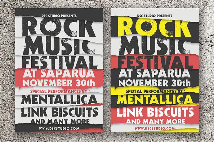Rock Music Festival Flyer
