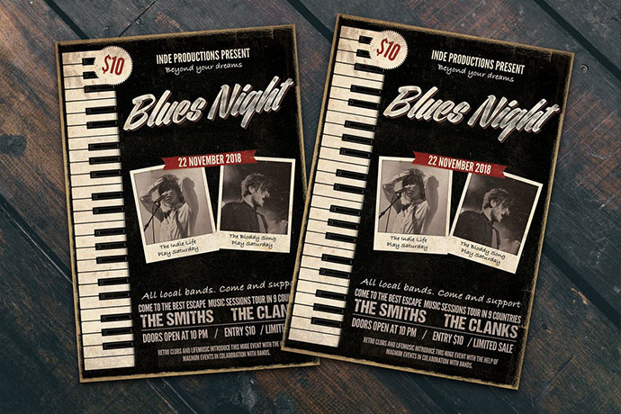 Blues Night Flyer Poster