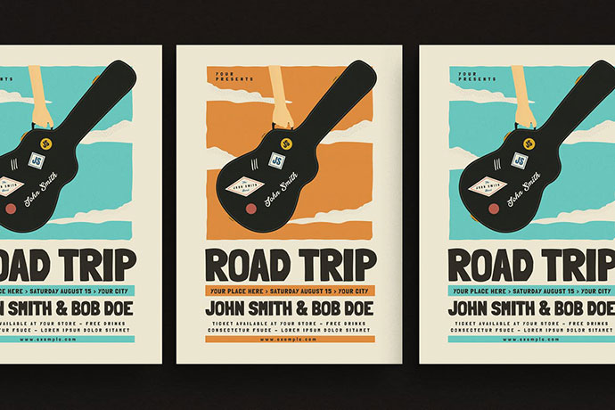 Road Trip Gigs Event Flyer