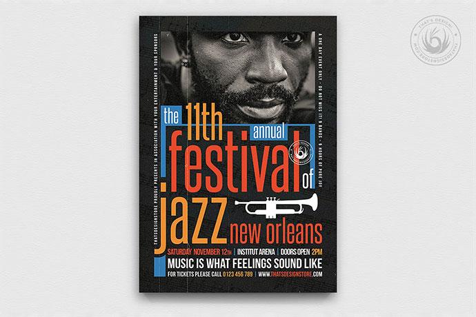 Jazz Festival Flyer Template V10